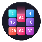 2048: Drop And Merge Icon